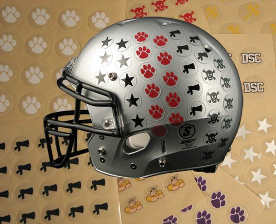 Football helmet stickers name strips name strip decals