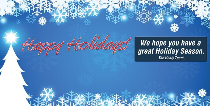 Happy Holidays from Healy Awards