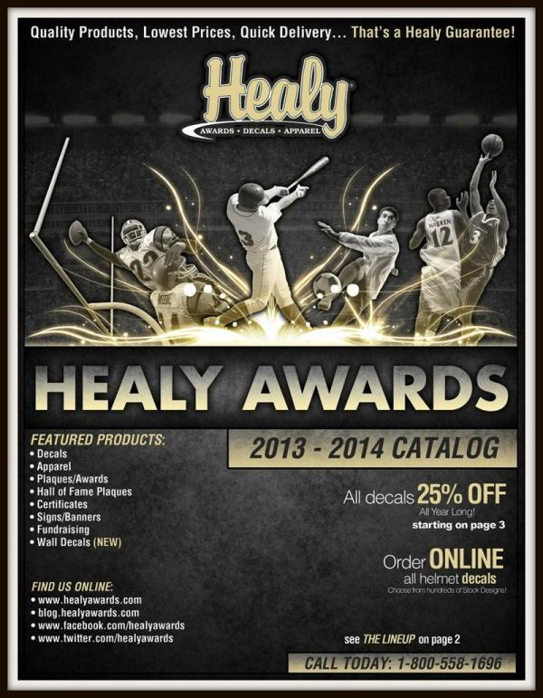 Healy Awards 2013 -2014 Catalog Cover
