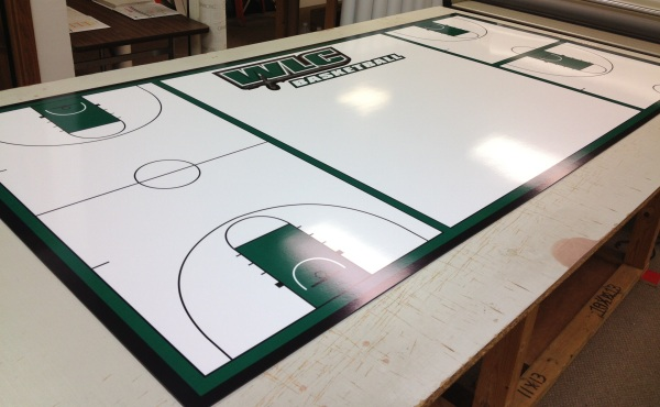 Healy Awards - Wis Lutheran College Dry Erase Basketball Court Board
