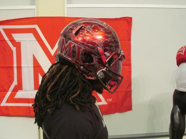 Healy Awards - Miami(OH) Football Helmet Decals - 7.24.13 - 4