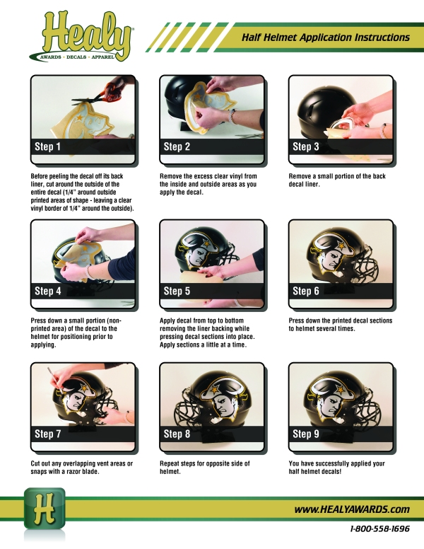 Half Helmet Instructions