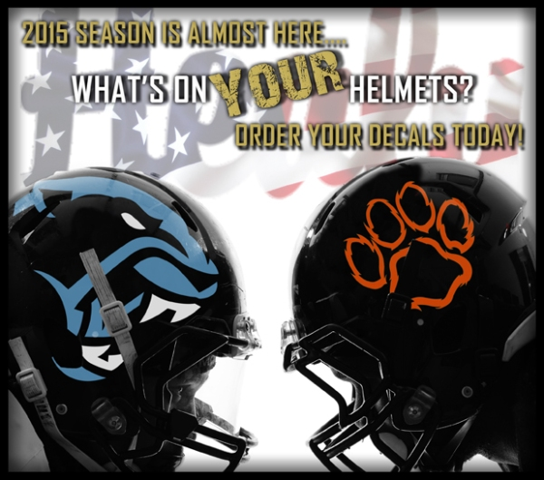August Football Helmet Decals