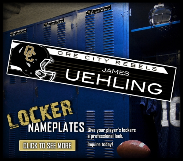 August Locker Nameplates
