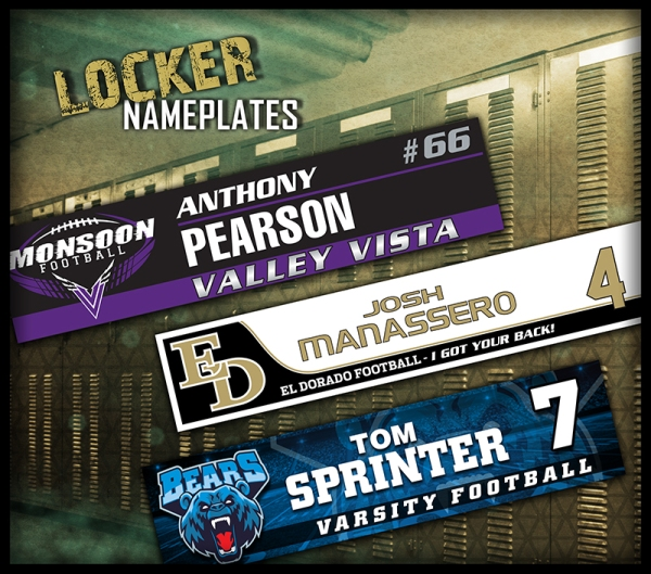 May 2016 Locker Nameplates
