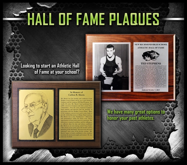 March 2017 - Hall of Fame Plaques