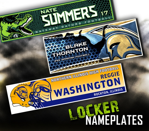 July 2017 Locker Nameplates
