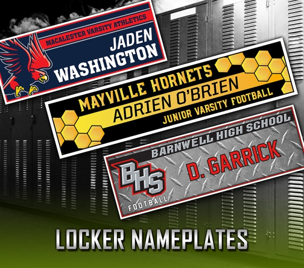 June 2017 - Locker Nameplates