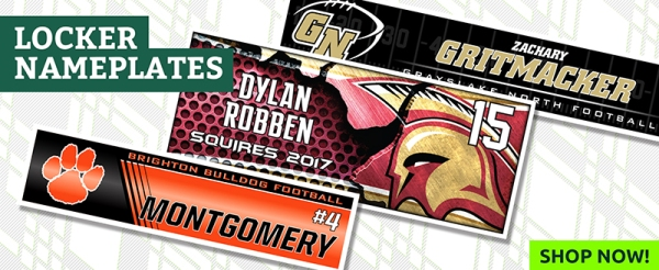 February 2018 Locker Nameplates