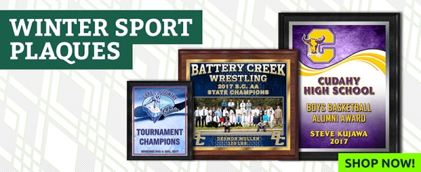 January 2018 Winter Sport Plaques