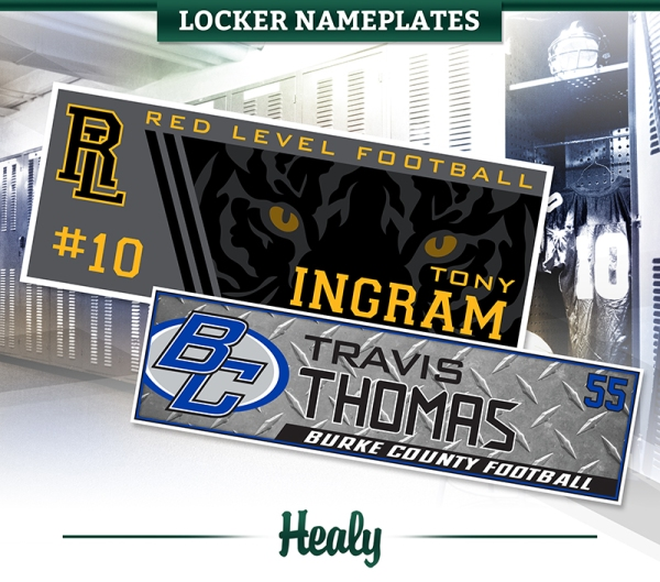 June 2018 Locker Nameplates