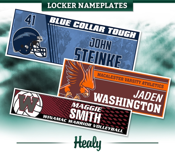 July 2018 Locker Nameplates