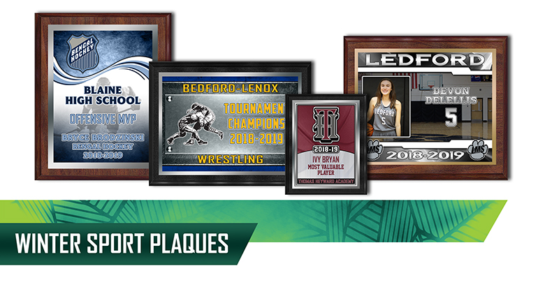 january 2019 winter plaques